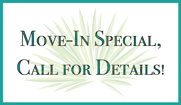 Move-in Special! Contact us today for details!
